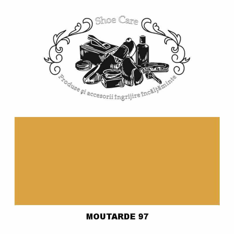 moutarde 97 Shoecare.ro - Cele mai bune produse si accesorii pentru ingrijirea pantofilor. Alege sa redai stralucirea papucilor