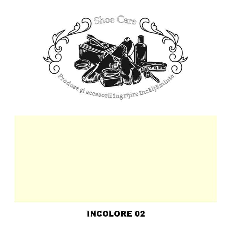 incolore 02 Shoecare.ro - Cele mai bune produse si accesorii pentru ingrijirea pantofilor. Alege sa redai stralucirea papucilor